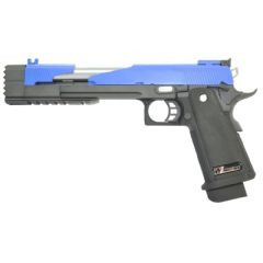 WE Dragon 7 Hi-Capa Type A Gas Airsoft Gun (Blue)